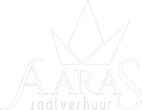 Zaalverhuur Aaras wageningen logo wit